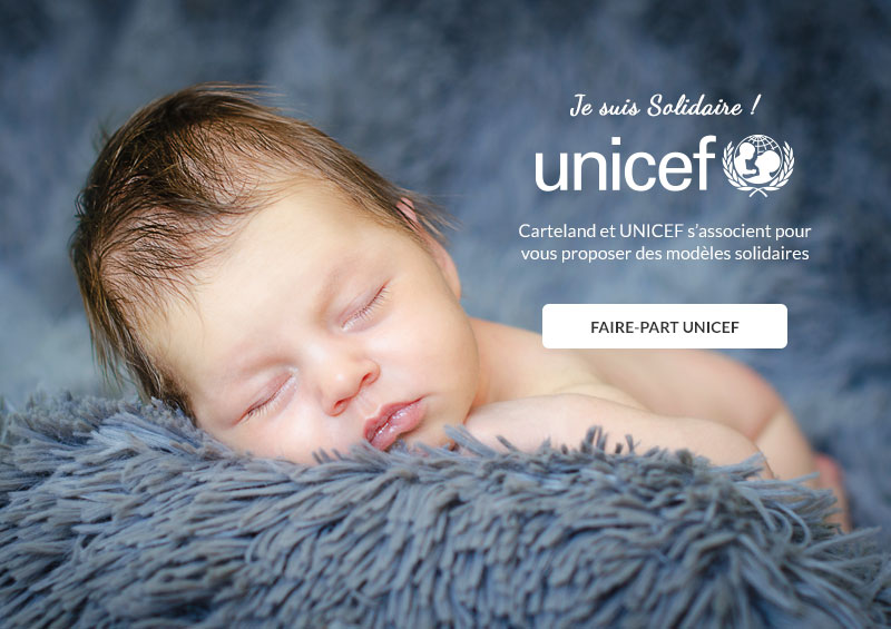 Faire-part UNICEF