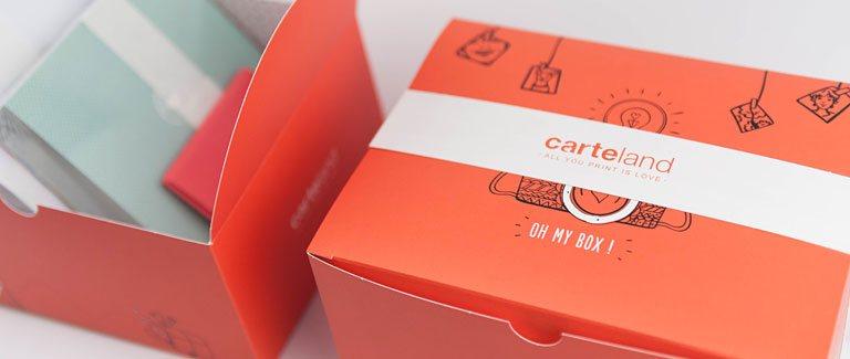 boîtes cadeaux Carteland