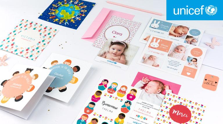 faire part naissance Unicef