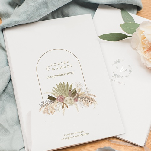 Livret Messe Mariage Globe de mariée, Couverture pas cher