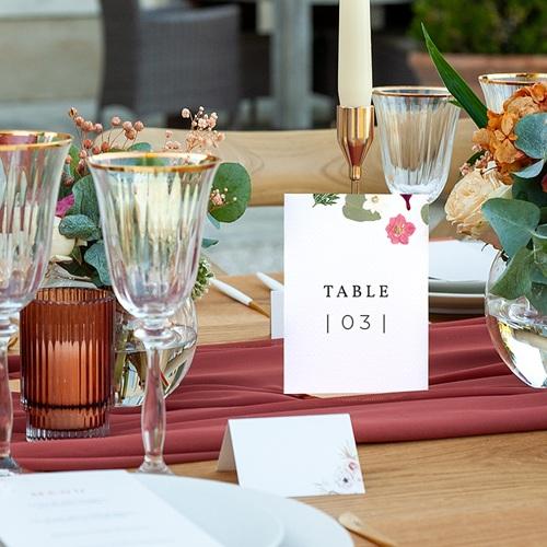 Marque Table Mariage Herbier Romance, Lot de 3 pas cher