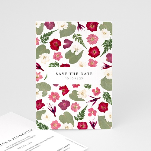 Save The Date Mariage Herbier Romance, Jour J
