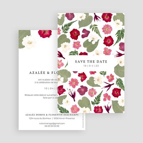 Save The Date Mariage Herbier Romance, Jour J gratuit