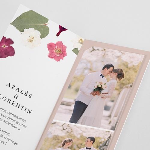 Carte Remerciement Mariage Herbier Romance, 2 en 1 pas cher