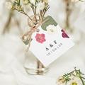 Etiquette Cadeau Mariage Herbier Romance, Souvenir