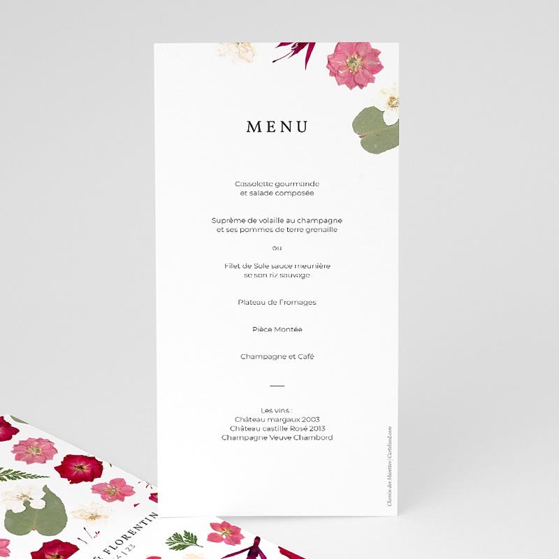 Menu Mariage Herbier Romance, Floral