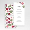 Menu Mariage Herbier Romance, Floral pas cher