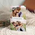 Carte Remerciement Mariage Herbier Romance double, 3 photos