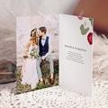 Carte Remerciement Mariage Herbier Romance double, 3 photos pas cher