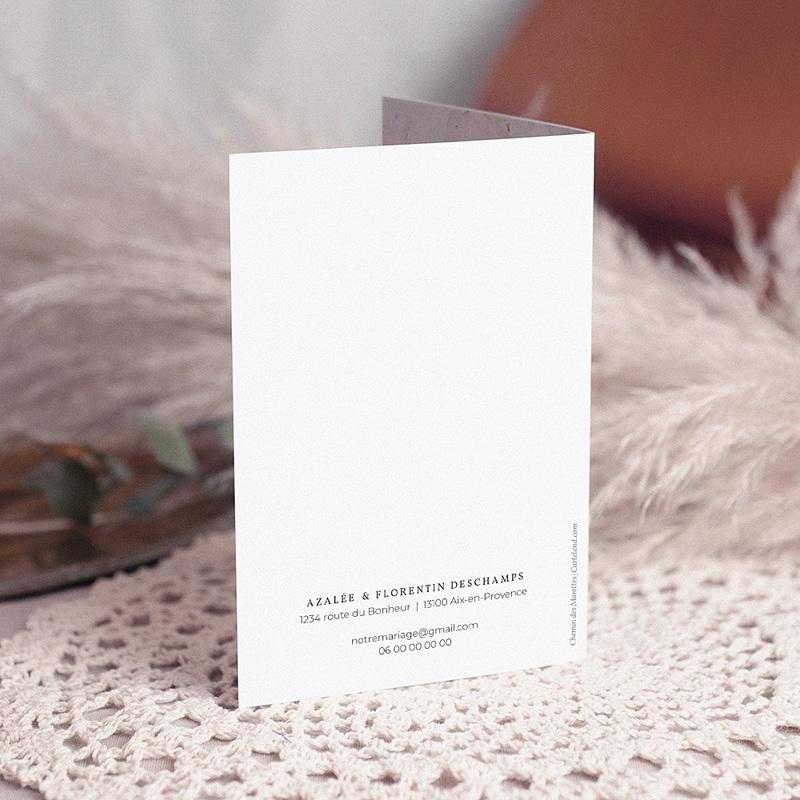 Carte Remerciement Mariage Herbier Romance double, 3 photos gratuit