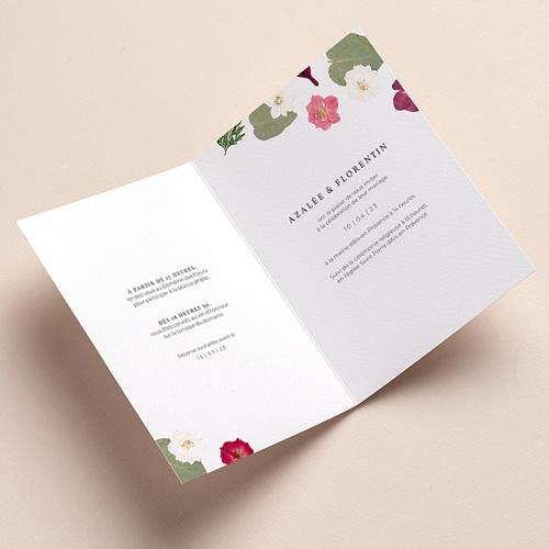 Faire-Part Mariage Herbier Romance, double volet, 12 x 17 pas cher