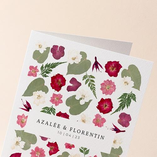Faire-Part Mariage Herbier Romance, double volet, 12 x 17 gratuit