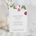 Faire-Part Mariage Herbier Romance, Fushia & Eucalyptus, 12 x 16,7 cm pas cher