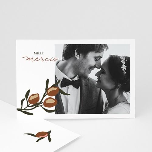 Carte Remerciement Mariage Olives Stylisées, Photo