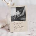 Carte Invitation Anniversaire Mariage Noces de coton, Cerisier en Silhouette