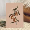 Faire-Part Mariage Olives dorées stylisées, 15 x 21 cm