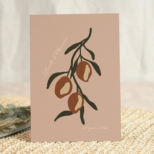 Faire-Part Mariage Olives dorées stylisées, 15 x 21 cm gratuit