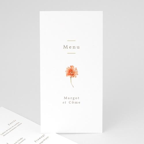 Menu Mariage Couronne & Fleurs Solsticiales, 10 x 21 cm