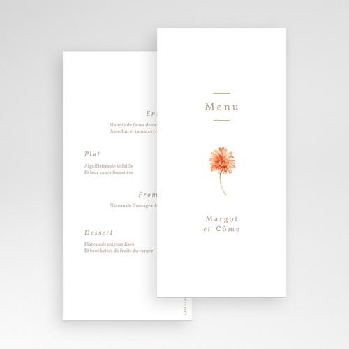 Menu Mariage Couronne & Fleurs Solsticiales, 10 x 21 cm pas cher