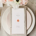Menu Mariage Couronne & Fleurs Solsticiales, 10 x 21 cm gratuit