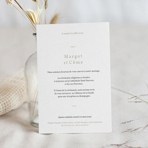 Faire-Part Mariage Couronne & Fleurs Solsticiales pas cher