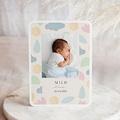 Faire-Part Naissance Milo, Tons Pastel, 12,7 x 17,7 cm