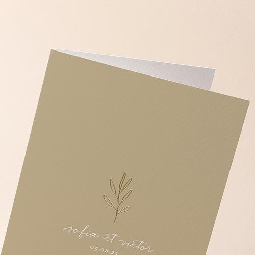 Faire-Part Mariage Brin minimaliste, Beige doré, 12 x 17 cm gratuit