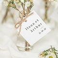 Etiquette Cadeau Mariage Végétal en Miroir, Cadeau souvenir