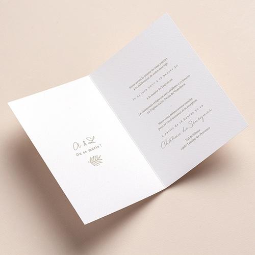Faire-Part Mariage Couronne dorée, 12 x 17 cm pas cher