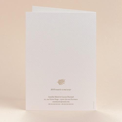 Faire-Part Mariage Couronne dorée, 12 x 17 cm