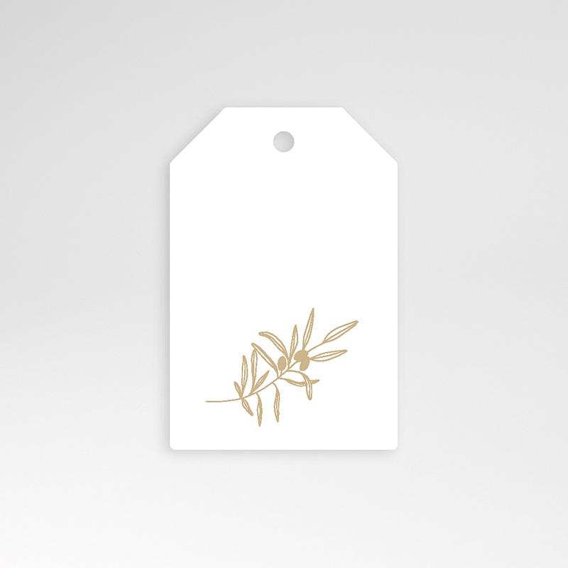 Etiquette Cadeau Mariage L'olivier doré, 6 x 4