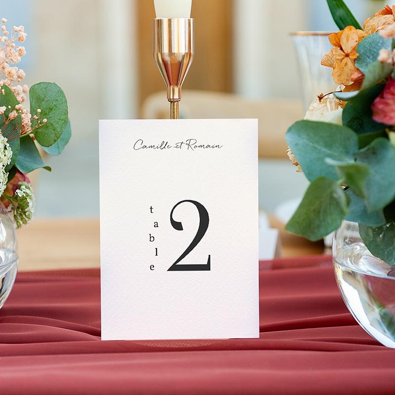 Marque Table Mariage Laurel minimaliste, lot de 3 gratuit