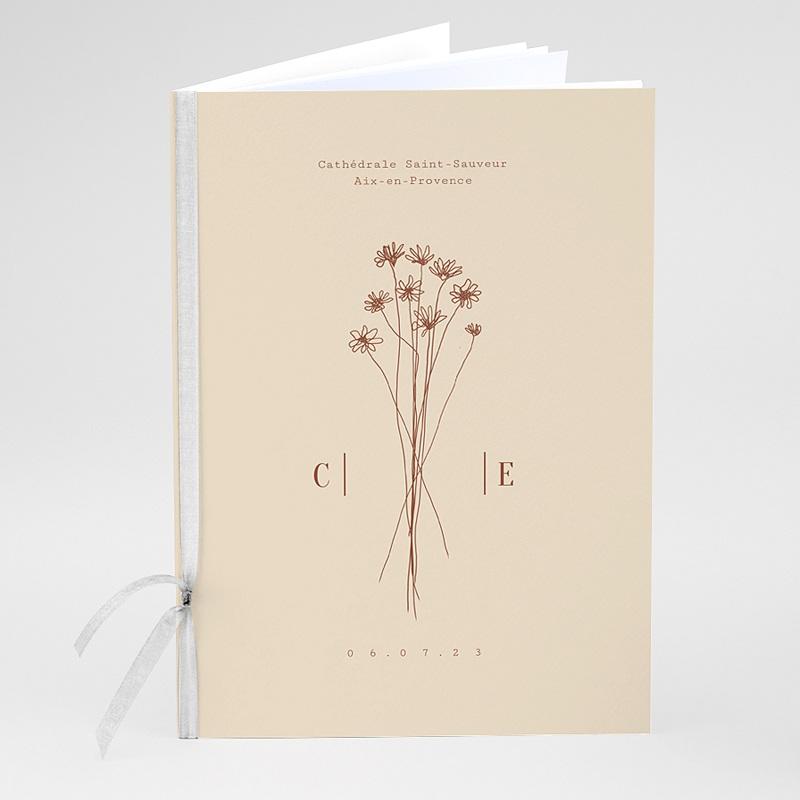 Livret Messe Mariage Silhouette Fleurs des Champs, Couverture