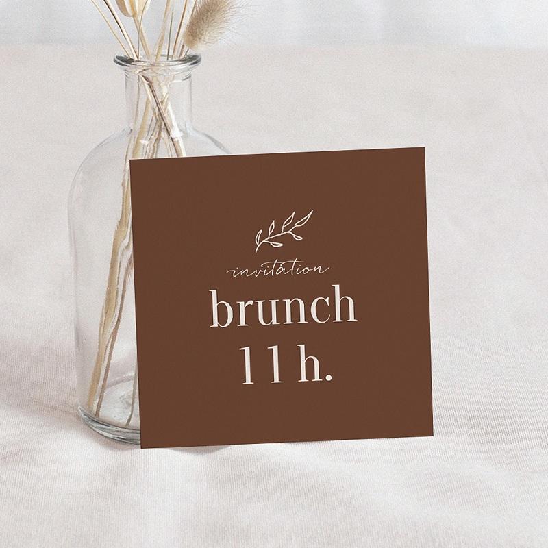 Carte Invitation Brunch Typo & Color, Brunch