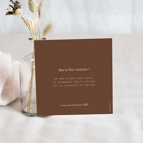 Carte Invitation Brunch Typo & Color, Brunch pas cher