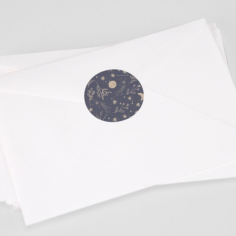 Etiquette Autocollante Naissance Naos, 4,5 cm
