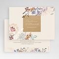 Faire-Part Mariage Douceur de fleurs & Kraft, 16,7 x 12 cm gratuit