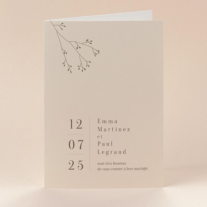 Faire-Part Mariage Amour de Provence, Double volet
