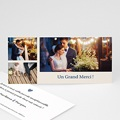 Carte remerciement mariage - Photographique - 271