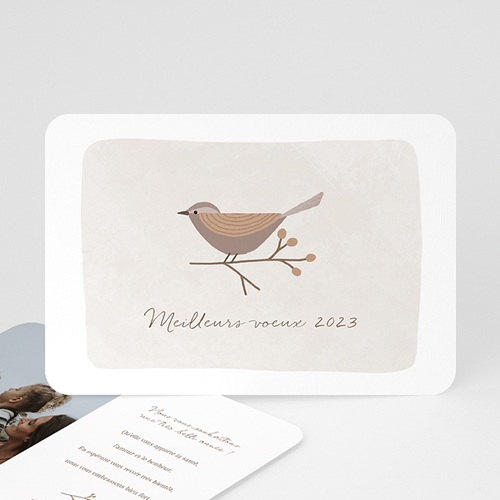 Carte de Voeux L'oiseau porte-bonheur