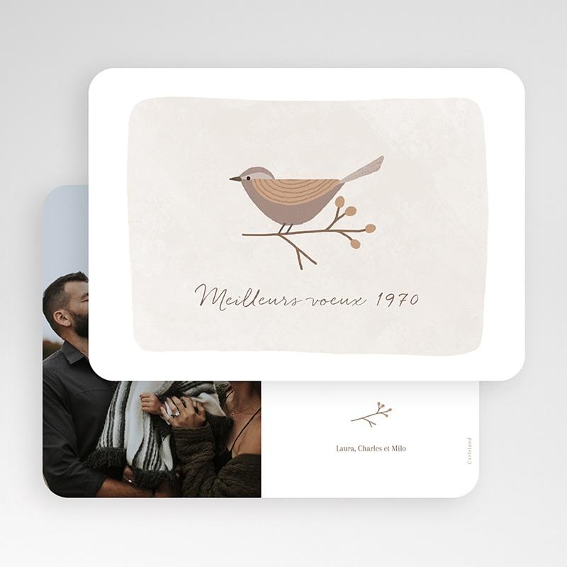 Carte de Voeux L'oiseau porte-bonheur gratuit