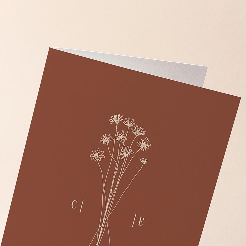 Faire-Part Mariage Silhouette Fleurs des champs, 12 x 17 cm gratuit