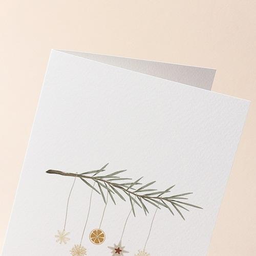 Carte de Voeux Suspension de Noel originale, 12 x 17 cm gratuit