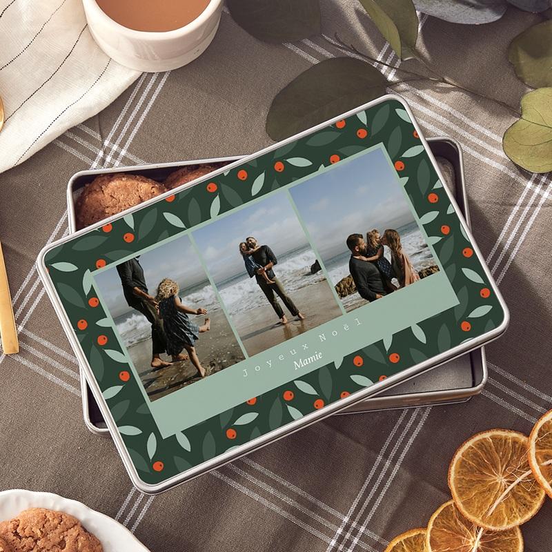 Boîte Personnalisée Photo Buisson Ardent, 19,4 x 12,4