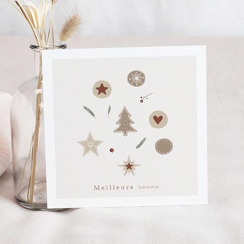 Carte de Voeux Sablés de Noël, 14 x 14,5 cm