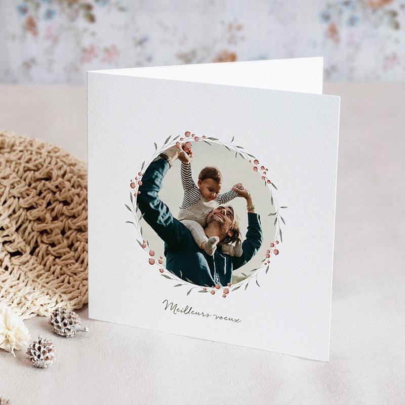 Carte de Voeux Joyeuses Fêtes de Noël, 3 Photos