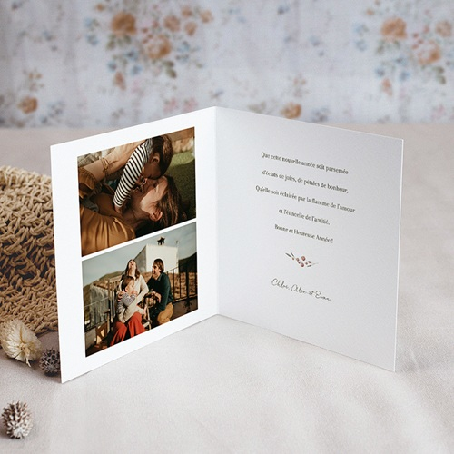 Carte de Voeux Joyeuses Fêtes de Noël, 3 Photos pas cher