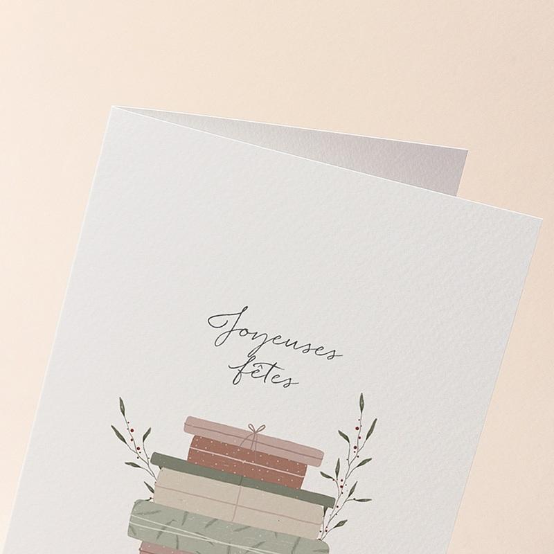 Carte de Voeux Cadeaux Vintage, Double volets 12 x 17 cm gratuit
