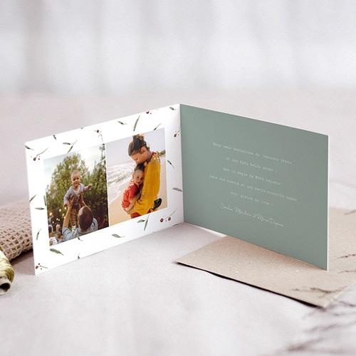 Carte de Voeux Demi-couronne de Noël, 15 x 10 cm pas cher