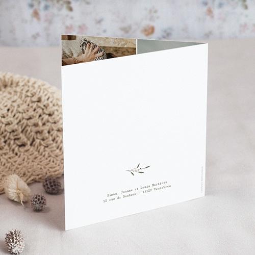 Carte de Voeux Couronne champêtre de Noël, 2 volets gratuit
